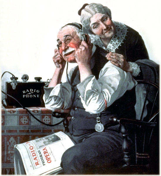 Radio Phone, by Norman Rockwell