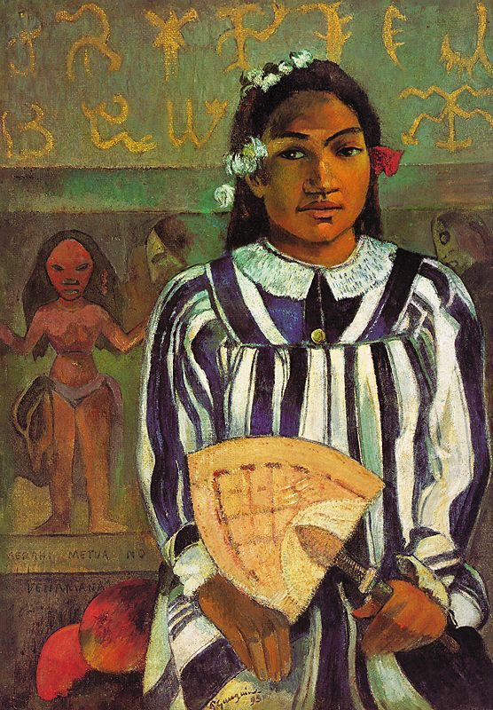 Tehamana has many parents (The Ancestors of Tehamana). by Gauguin