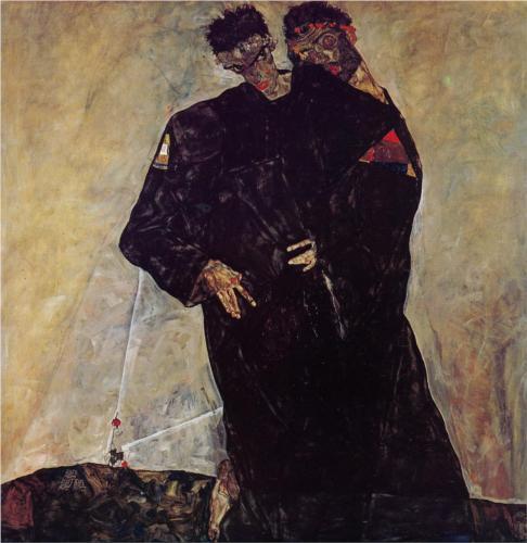 Hermits by Egon Schiele