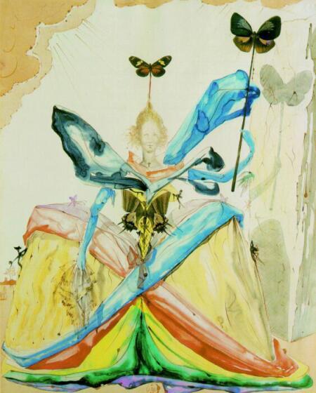 Queen of the Butterflies by Salvador Dali