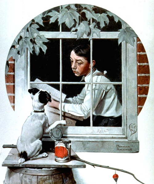 Stuck Inside, by Norman Rockwell.